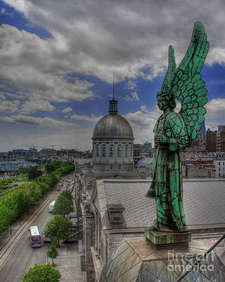 Photograph - Montreal's Guardian Angel  by Lee Dos Santos