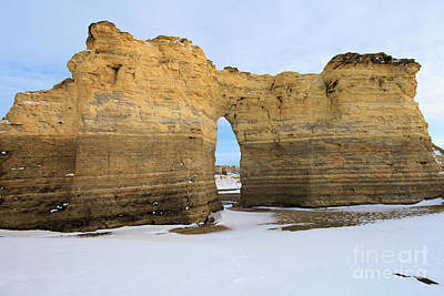 Photograph - Monument Rocks Arch by Adam Jewell