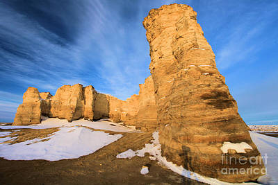 Photograph - Monument Rocks In Kansas by Adam Jewell