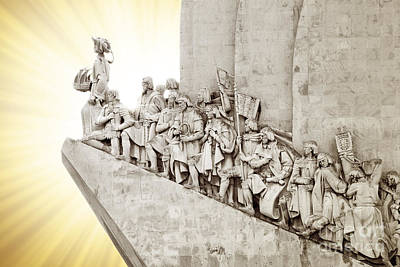 Monument To Discoveries Art Print by Carlos Caetano