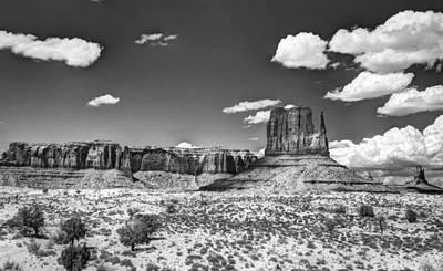 Photograph - Monument Valley In Monochrome  by Saija  Lehtonen