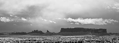 Photograph - Monument Valley In Snow Panorama by Kate Sumners