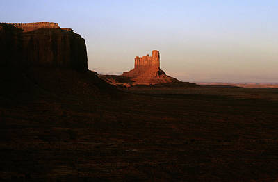 Photograph - Monument Valley Mitten With Butte by John Brink