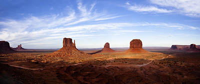 Wild West Photograph - Monument Valley Panorama by Andrew Soundarajan