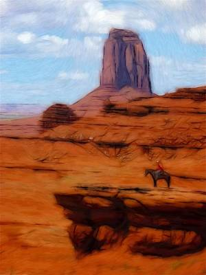 Monument Valley Pastel Art Print by Steve K