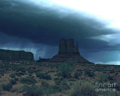 Photograph - Monument Valley Rainstorm Approaching by Merton Allen