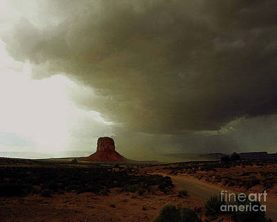 Photograph - Monument Valley Storm Coming Fast  by Merton Allen