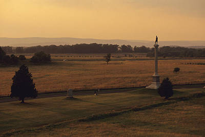 War Monuments And Shrines Photograph - Monuments At Gettysburg National by Raymond Gehman