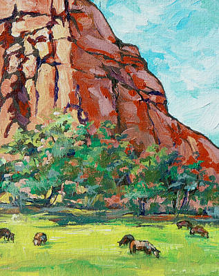 Oak Creek Painting - Moo Cow by Sandy Tracey