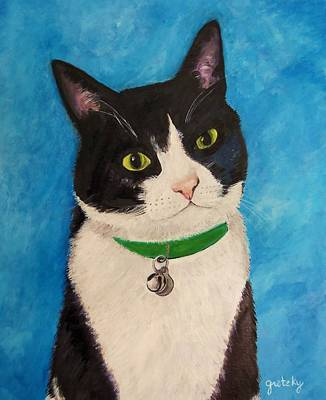 Cat Painting - Moo The Cat by Paintings by Gretzky