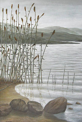 Ripples Painting - Moods Of The Lake by Ronald Haber
