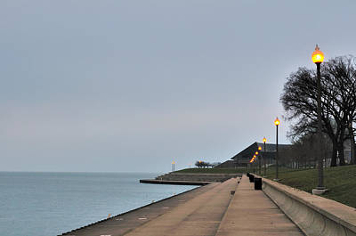 Moody And Lonely Lakefront Art Print