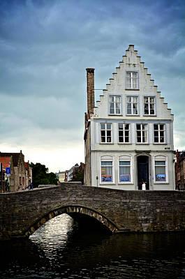 Moody Bruges Art Print