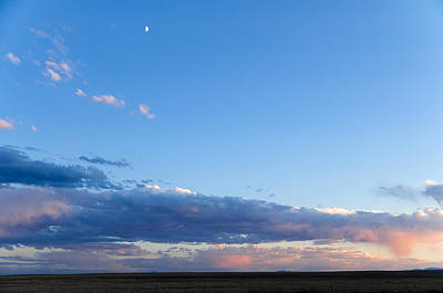 Moon Above The Horizon Art Print