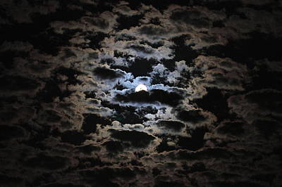 Moon And Clouds Art Print by Paul Marto