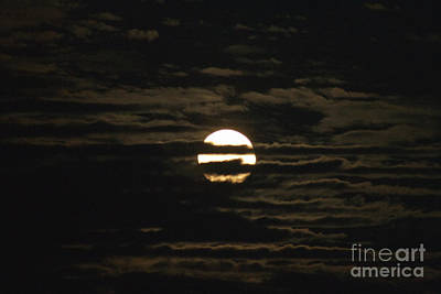 Photograph - Moon Behind The Clouds by William Norton