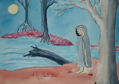 Moon Blanket Art Print by Linda Pope