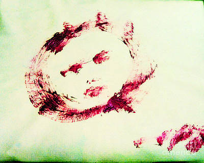 Moon Face Art Print by Raul Morales