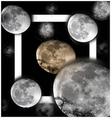 Moon From The Country Art Print