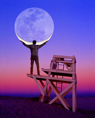 Photograph - Moon Holder by Larry Landolfi