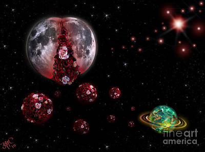 Digital Art - Moon In Labour by Rosa Cobos