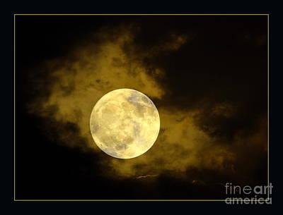 Solar Eclipse Digital Art - Moon In The Night Sky by Odon Czintos