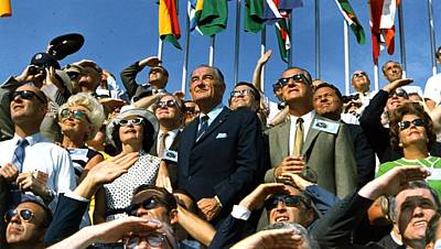 Agnew Photograph - Moon Launch. Vice President Spiro Agnew by Everett