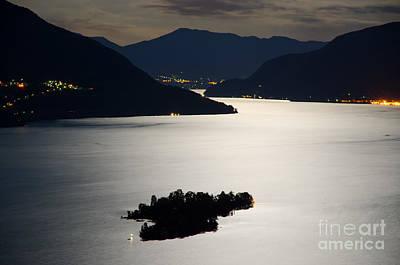 Moon Light Over Islands Art Print