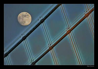 Photograph - Moon On Bay Bridge by Blake Richards