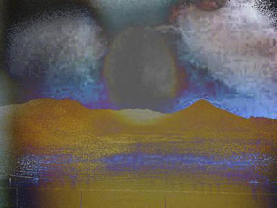 Moon Over Arizona 2 Art Print by Lenore Senior and Angela L Walker