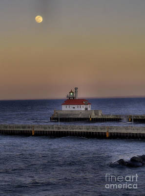 Duluth Photograph - Moon Over Canal Park by Jimmy Ostgard