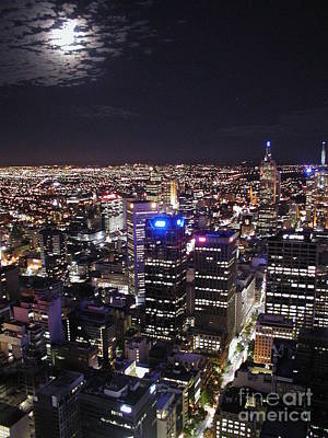 Melbourne Photograph - Moon Over Melbourne by Stav Stavit Zagron