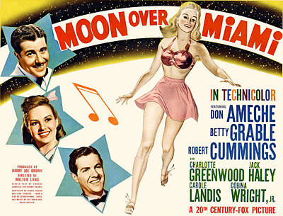 Posth Photograph - Moon Over Miami, Don Ameche, Betty by Everett