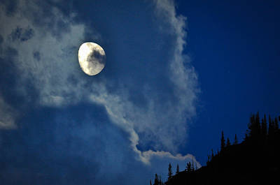 Photograph - Moon Over Swiftcurrent  by Ronda Broatch