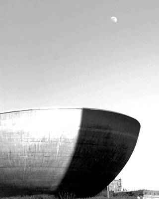 Photograph - Moon Over The Egg by Jessica J Murray