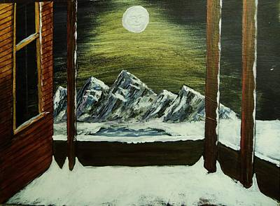 Moon Over The Mountains Art Print by Gordon Wendling