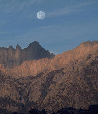 Photograph - Moon Over Whitney by John Farley