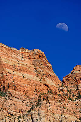 Photograph - Moon Over Zion by Greg Norrell