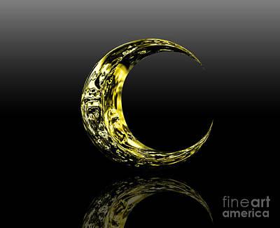 Universal System Digital Art - Moon by Rattanapon Muanpimthong