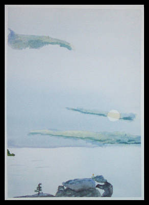 Moon Rise Print by John  Schwind