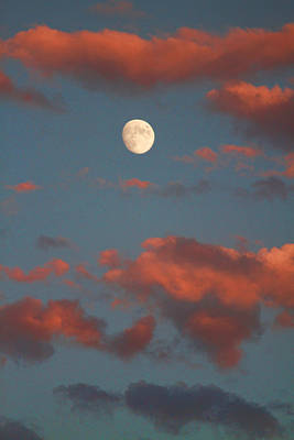 Moon Sunset Vertical Image Art Print by James BO  Insogna