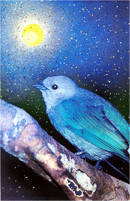 Altered Painting - Moondust by Robin Mead