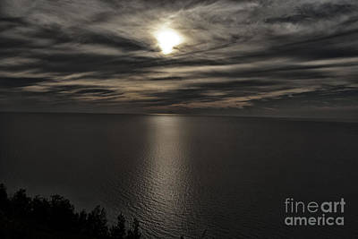Moonglow Over Lake Michigan Art Print by Christopher Purcell