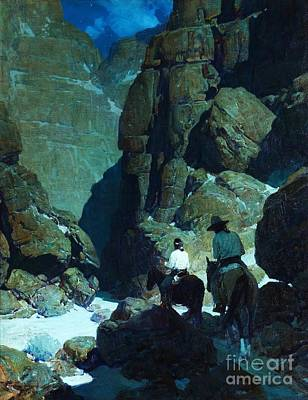 Painting - Moonlight Canyon by Pg Reproductions