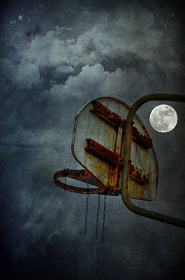 Photograph - Moonlight Hoops by Emily Stauring