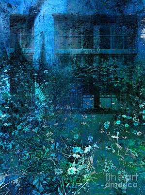 Moonlight In The Garden Print by Ann Powell