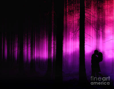 Emo Digital Art - Moonlight Kiss by Julie Fain