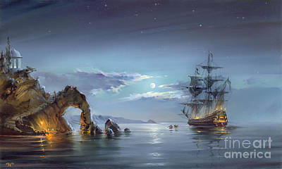 Moonlight Night Original by Roman Romanov