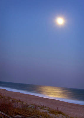 Moonlight On Ocean Art Print by Doris Rudd Designs, Photography