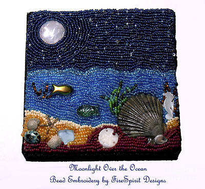 Mixed Media - Moonlight Over The Ocean by Patricia Griffin Brett